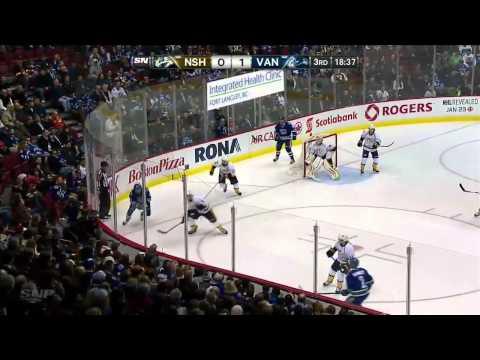 Nashville Predators vs Vancouver Canucks 23.01.2014