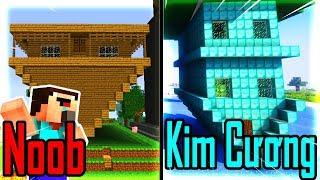 Thăm Nhà Noob Xây Nhà Ngược Bằng Kim Cương Trong Minecraft