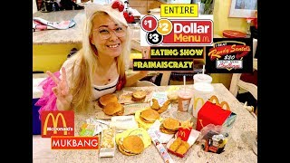 Entire $1 $2 $3 Value Menu of McDonalds MUKBANG EATING SHOW   $20 Randy Santel Value Menu Challenge