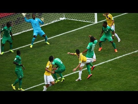 Colombia 2 - 1 Ivory Coast : World Cup 2014