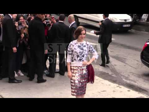 Lily Collins at 2014 Chanel Haute Couture in Paris