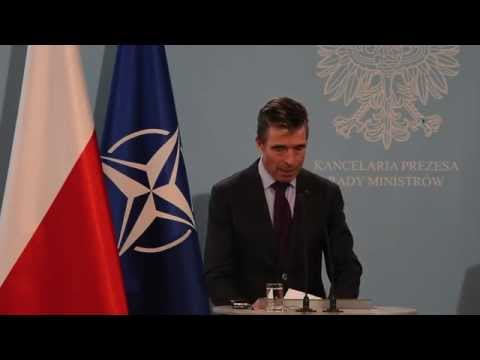 NATO Secretary General and Prime Minister of Poland - Joint Press Point