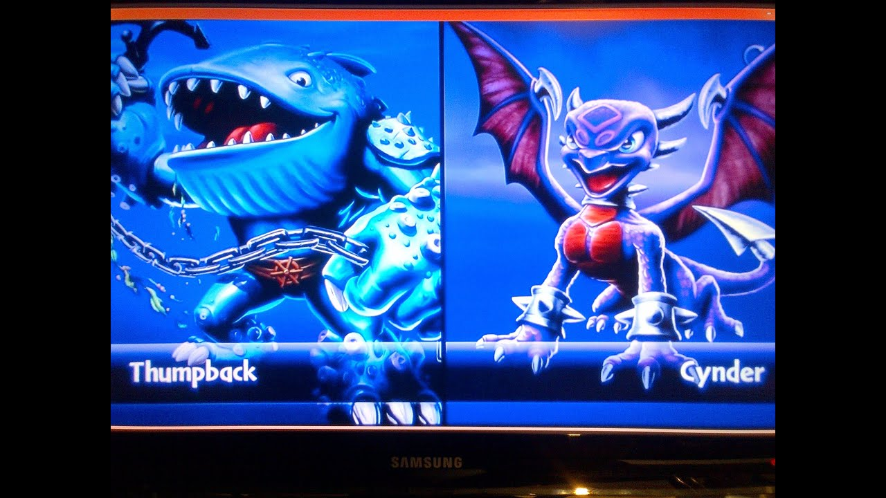 Skylanders giants thumpback vs cynder youtube - Skylanders thumpback ...