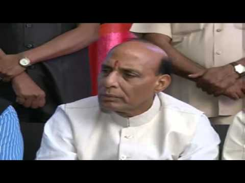Shri Rajnath Singh addressing Press Conference in Gurdaspur (Punjab) 19 April 2014