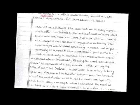 Jodi Arias Files 12 Page Handwritten Letter To Fire Defense Lawyer ...