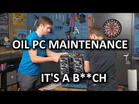 Aquarium Mineral Oil PC Maintenance Vlog