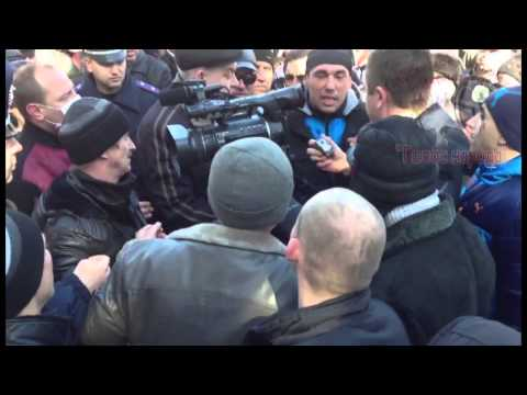 Russian Protesters Beat Journalists and Confiscated THIS Video in Lugansk Ukraine