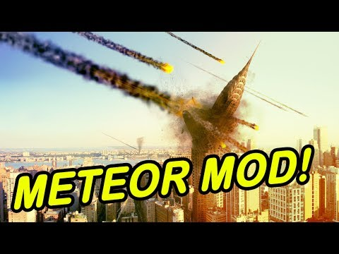 Minecraft   METEOR MOD!   Entire city wiped out! (Again)