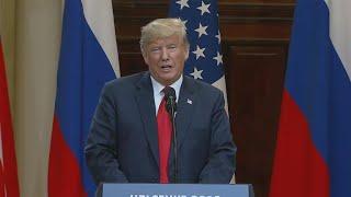 Trump arrives in U.S. following meeting with Putin