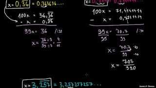 Pretvorba ponavljajočih decimalk v ulomek 2