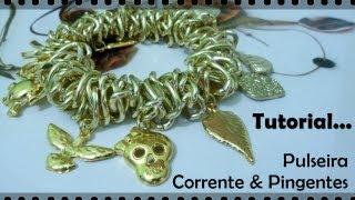 Passo a Passo #11 - Pulseira Corrente com Pingentes view on youtube.com tube online.