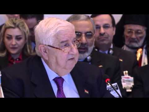 Raw: UN Chief, Syrian FM Have Tense Exchange