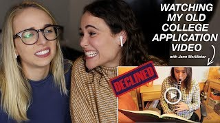 REACTING TO MY OLD COLLEGE APPLICATION VIDEO (I was rejected) | AYYDUBS