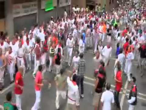 Running with the Bulls 2011 Pamplona