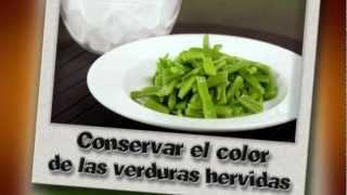 Cómo conservar el color las verduras