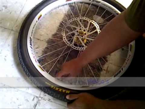 tutorial cara bongkar pasang ban sepeda MTB