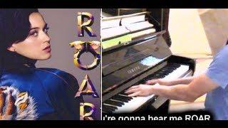 Katy Perry Roar Lyrics (Blindfolded Piano Cover)
