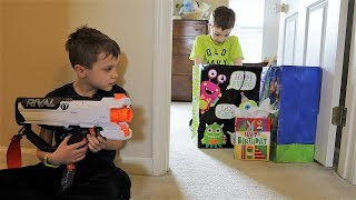 Nerf War:  The Birthday Surprise