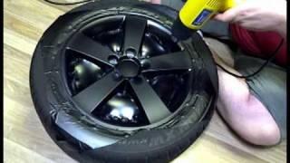 DIY: Wrapping Rims in Matte Black Vinyl videos