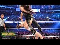 Ronda Rousey shows no mercy against Stephanie McMahon in her WWE in ring debut WrestleMania 34