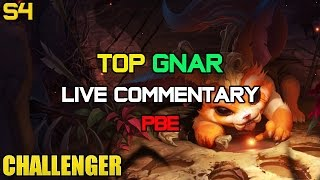 Challenger Top AD Gnar Ep. 11 PBE LIVE Gameplay