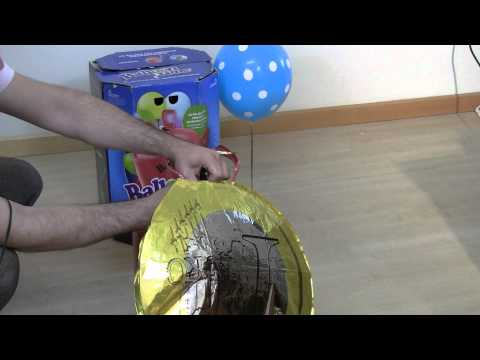 Como inflar balões metalizados utilizando cilindro descartável de gás hélio