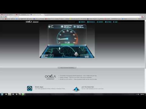 National and international internet speed test.