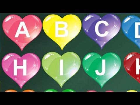 ALPHABET - ABC song with Cute heart shape | Alphabet Song ... K Alphabet In Heart