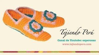 Cómo Tejer Pantuflas Con Cuadrado Con Flor A Crochet