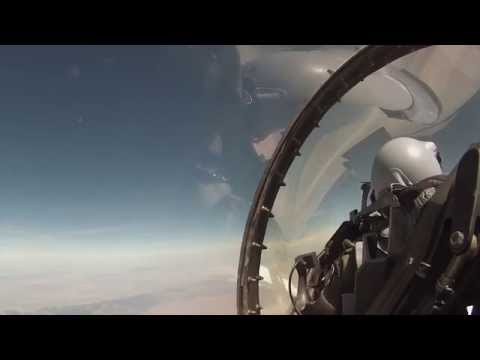 AMAZING - MUST SEE!  F-16 and F-15 Fighter Live-Fire Cockpit Video 2
