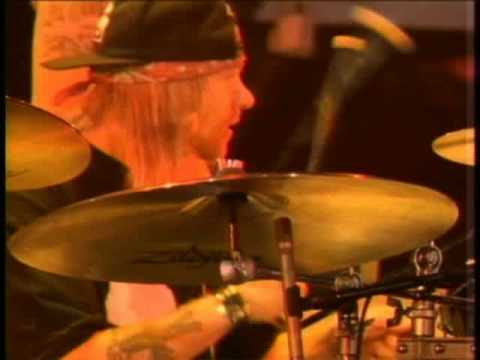 Guns N' Roses -  Axl Rose playing drums