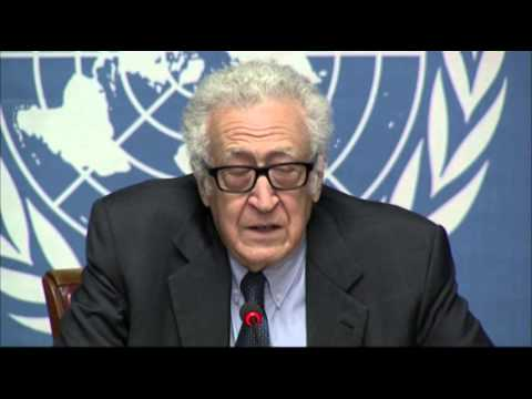 Raw: Brahimi Says No Progress in Syria Talks