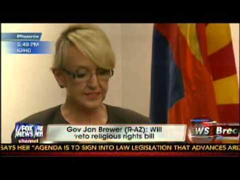Arizona Gov. Jan Brewer Veteos Anti-Gay Bill SB1062 - FOX News Coverage