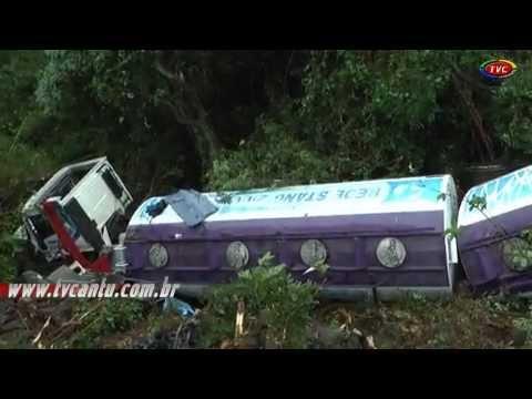 Acidente com Caminhão tanque de combustivel da rede Stang de Nova Esperança do Sul do Oeste