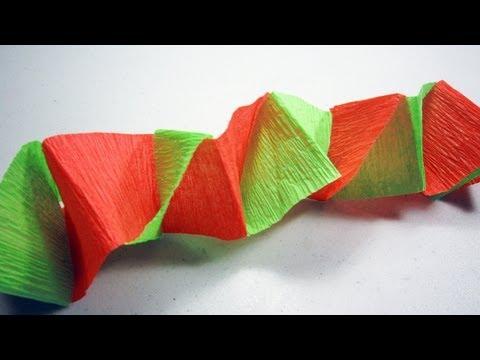 Cómo hacer un banderin o decoración para fiestas con papel Crêpe