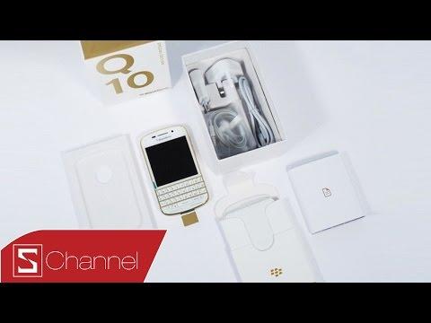 Mở hộp & trên tay Blackberry Q10 Gold Edition