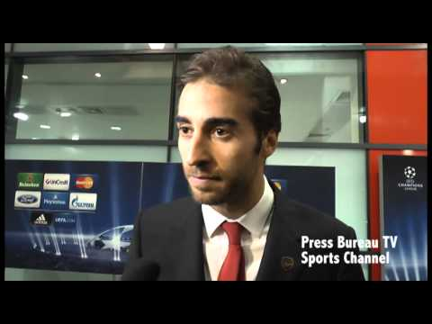 Mathieu Flamini reaction to Arsenal vs Marseille