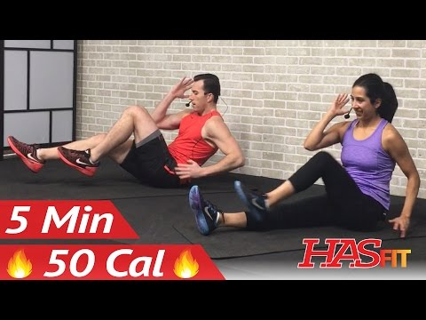 5 Min Lower Ab Workout for Women & Men - 5 Minute Abs Lower Abs Belly Fat Flattener Stomach Workout