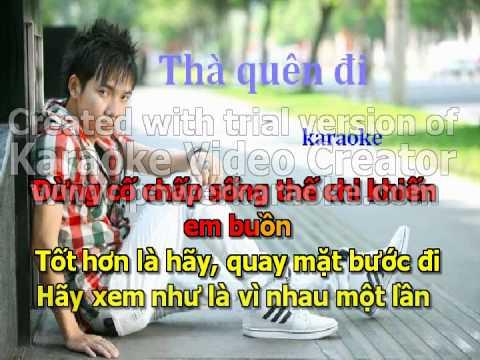 Tha Quen Di karaoke