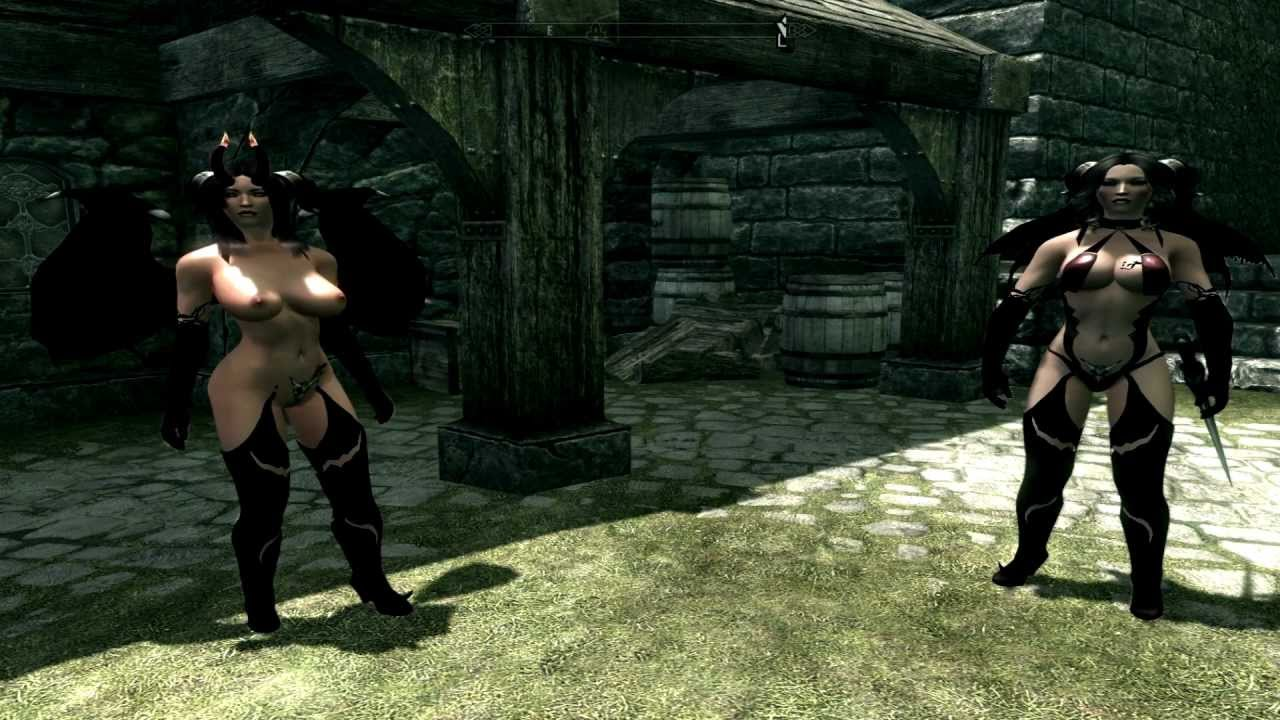 Skyrim - Big Boobed Demon Lydia and the Hot Succubus ! - YouTube
