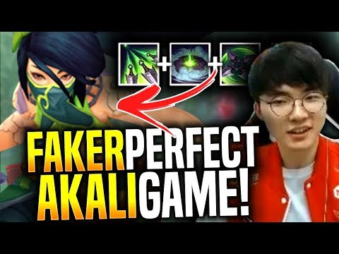 Faker Makes the Perfect Game with New Akali! - SKT T1 Faker Picks Akali Mid! | SKT T1 Replays