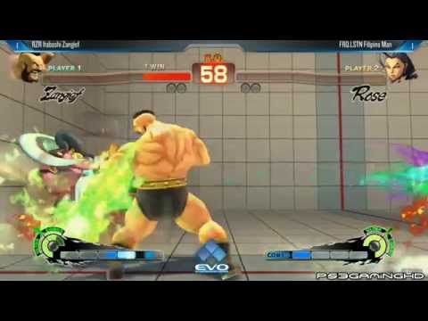 USFIV EVO 2014: ITABASHI ZANGIEF (Zangief) vs FILIPINO MAN (Rose) Top 32
