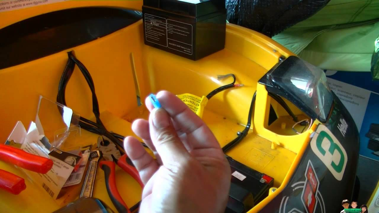 Ride On Kids Yellow Race Car Corvette Battery Mod