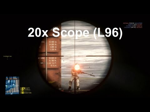 20x Scope (L96) Gameplay  - Picked up from DICE