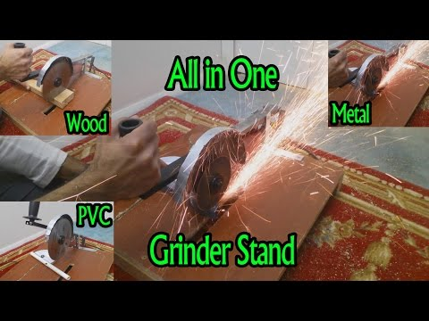 How To Make Angle Grinder Stand | Angle Grinder Hacks | All in One Saw Stand | Homemade