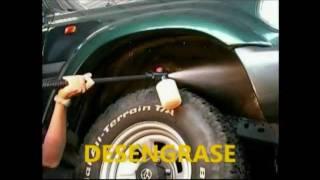 Recubrimiento plastico anticorrosivo para coches