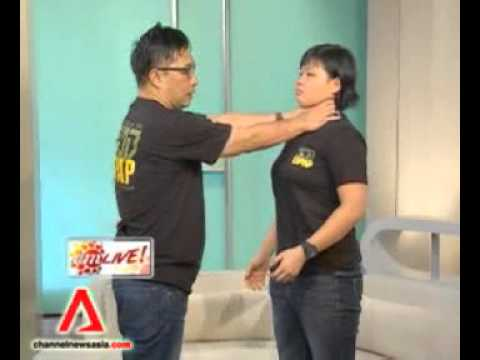 Kapap ladies self defense featured on Channelnewsasia AM Live.flv