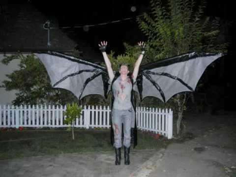 scary demon costume articulated 12 foot wings youtube
