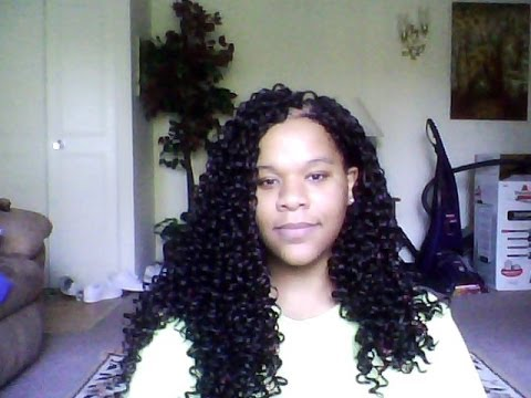 ... Curl Latch hook / Crochet Braids with a little Freetress Presto Curl