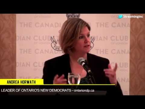 Andrea Horwath - Leader, Ontario New Democratic Party (NDP)